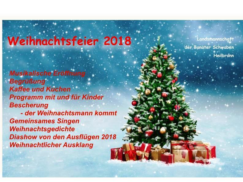 Weihnachtsfeier Begrüßung.Rückschau Weihnachtsfeier Landsmannschaft Der Banater Schwaben E V