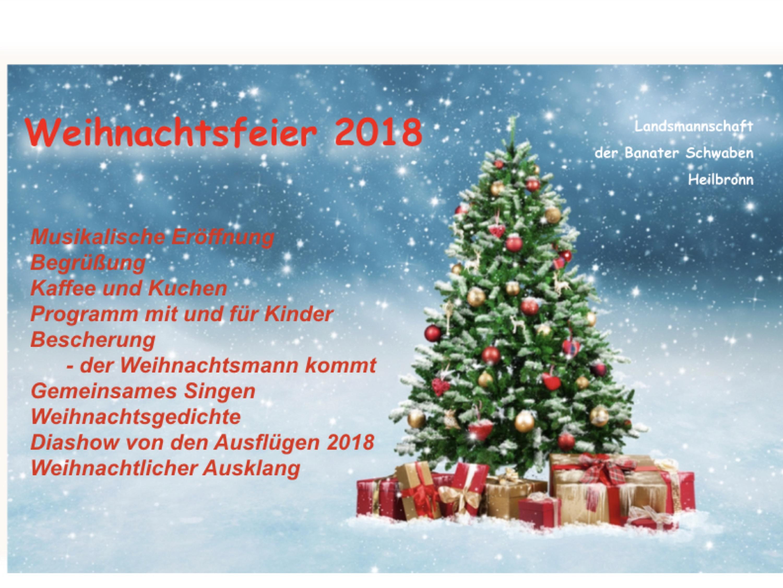 Weihnachtsfeier Heilbronn.Fotoalbum Weihnachtsfeier 2018 Landsmannschaft Der Banater